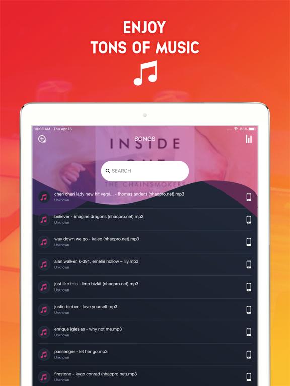 Music Cloud: Offline Mp3-ipad-2
