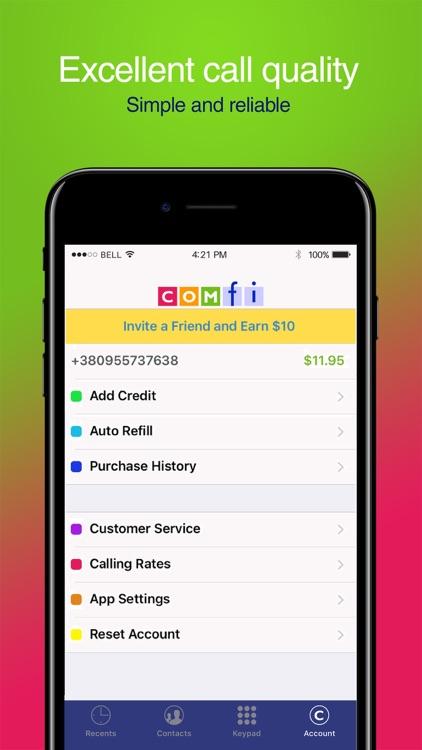 Comfi Cheap International Call screenshot-4
