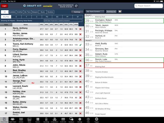 Fantasy Basketball Draft '19 screenshot 6