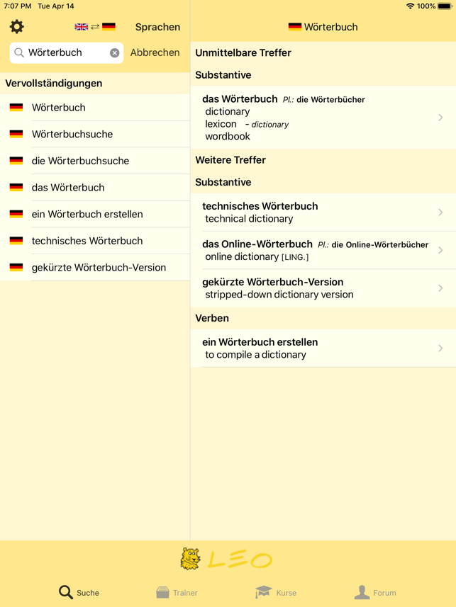 ‎LEO Wörterbuch Screenshot