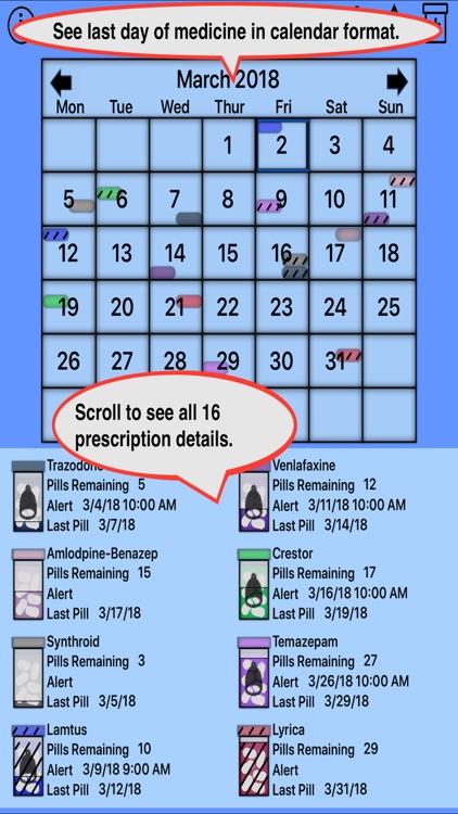 Prescription Reminder, Refils