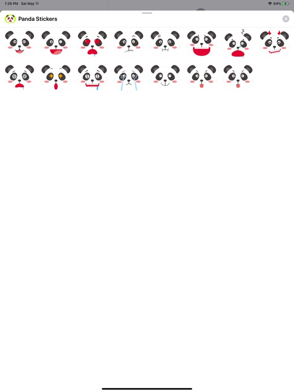 Panda Cartoon Stickers screenshot 4