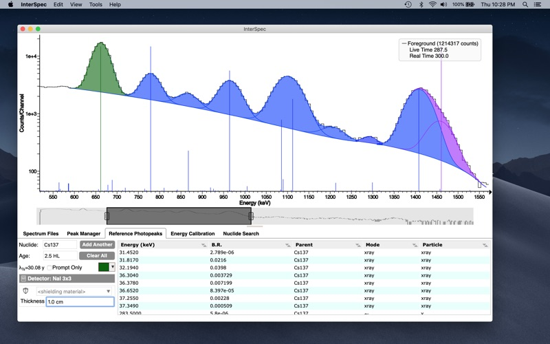 InterSpec Radiation Analysis for Mac