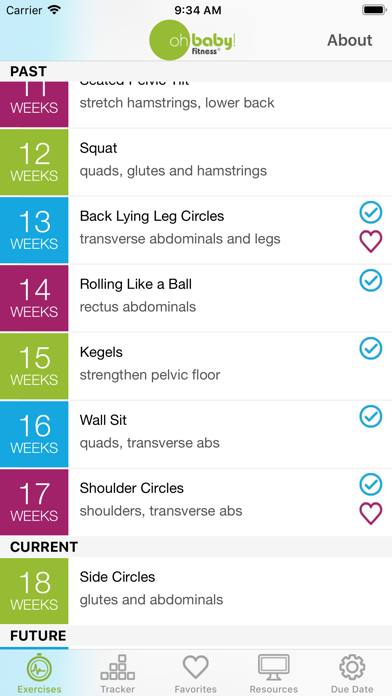 Oh Baby! Pregnancy Exercise Screenshot 2