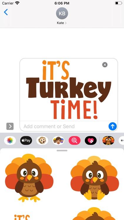 Turkey Time Stickers screenshot-5