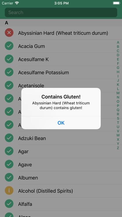 GFree Ingredients