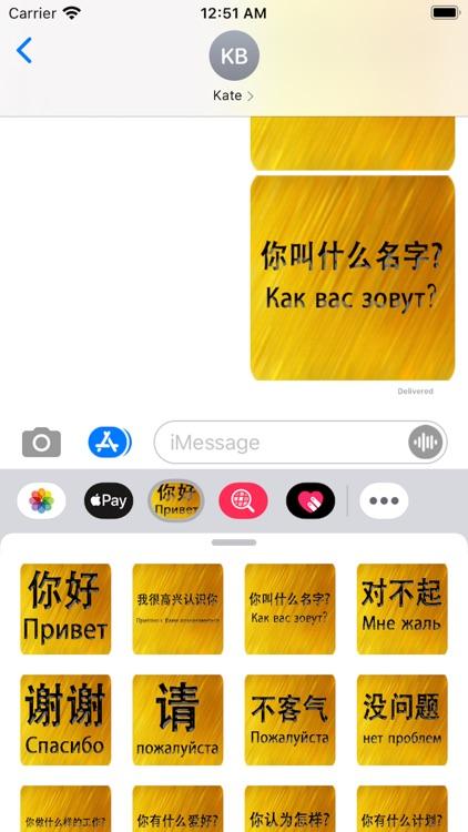 Chinese Russian Sticker screenshot-5