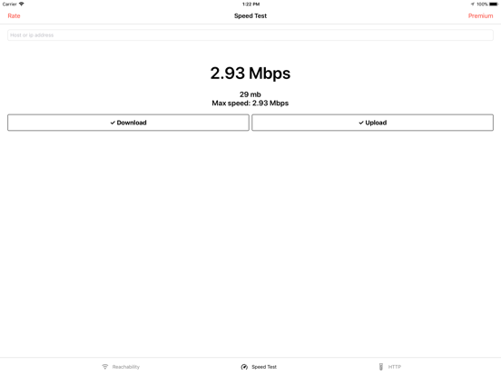Web Tools: Internet Speed Test Screenshots