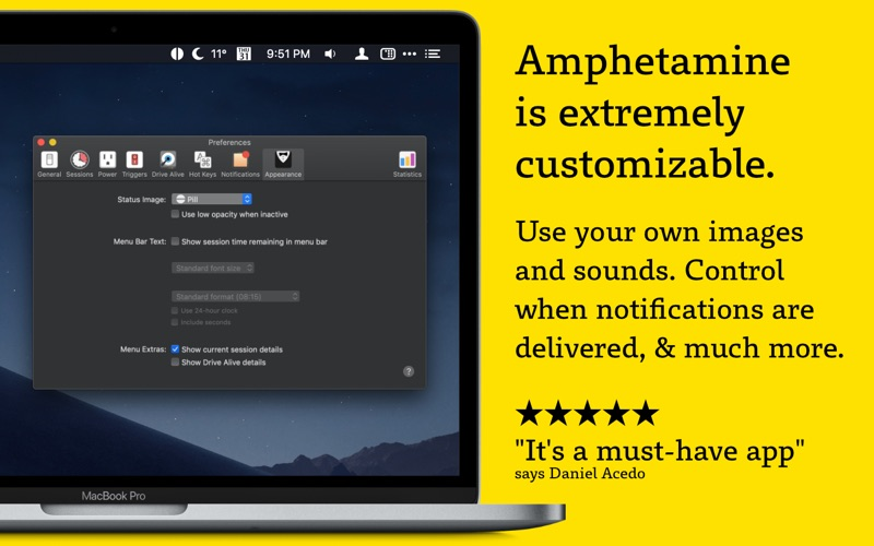 Amphetamine Screenshot
