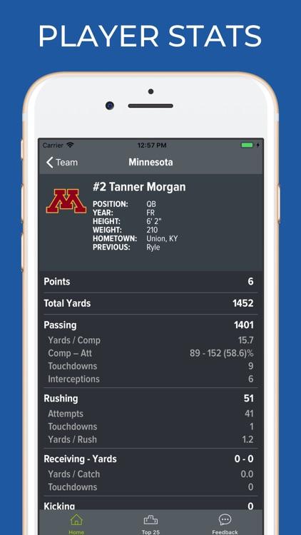 Minnesota Football Schedules screenshot-3