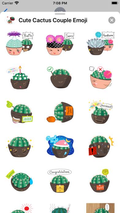 Cute Cactus Couple Emoji screenshot 3