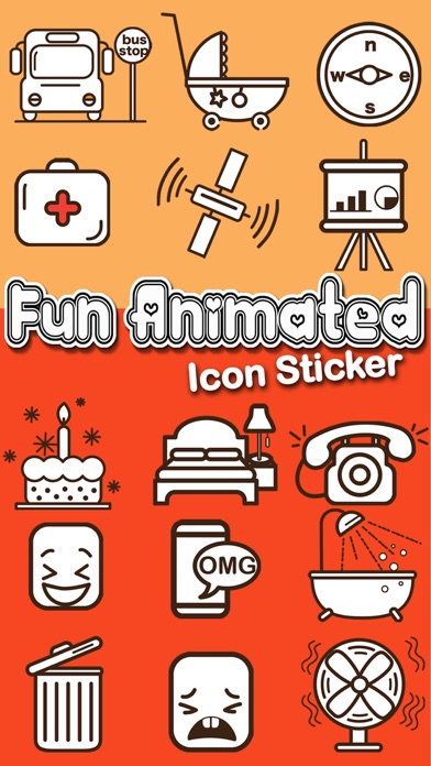Screenshot for Fun Animated Icon Sticker in United States App Store