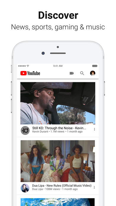 Screenshot for YouTube: Watch, Listen, Stream in Belgium App Store
