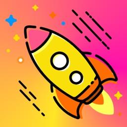 卡通情侣小火箭