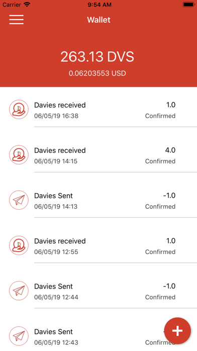 Screenshot of Davies App