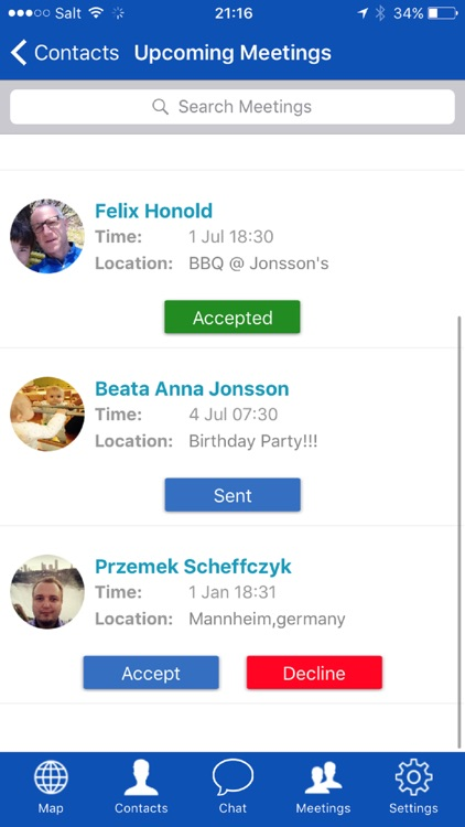 BizMeet - Share your location screenshot-5