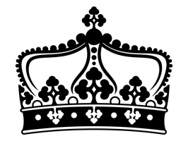 The CrownsSt is a beauty sticker, which are showed the crown set in black