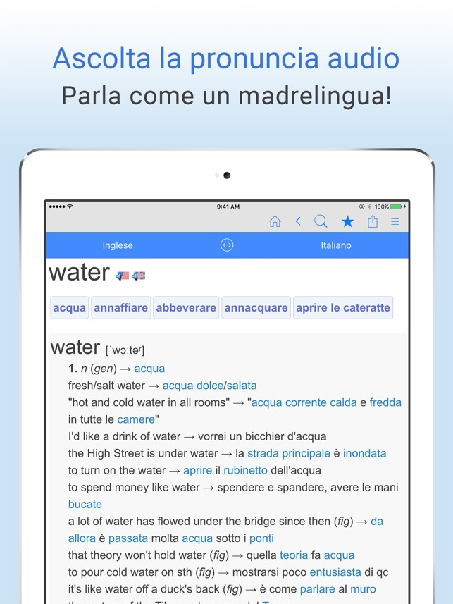 Dizionario Italiano Inglese On The App Store