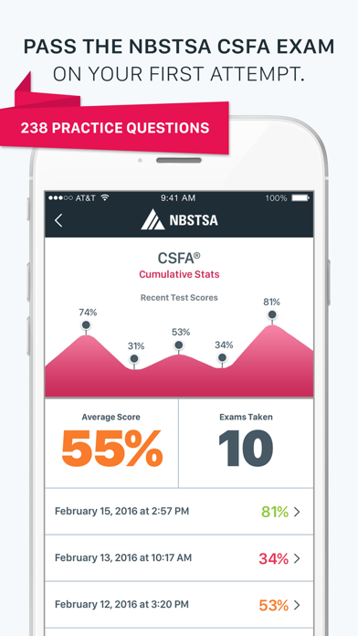 Official NBSTSA CSFA Exam Prep screenshot one