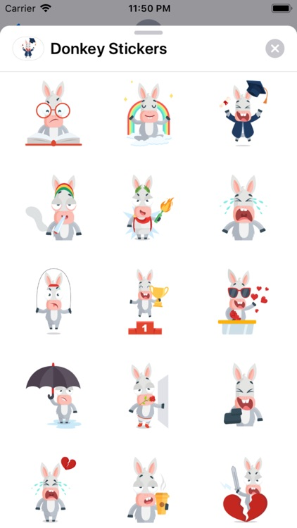 Donkey Stickers