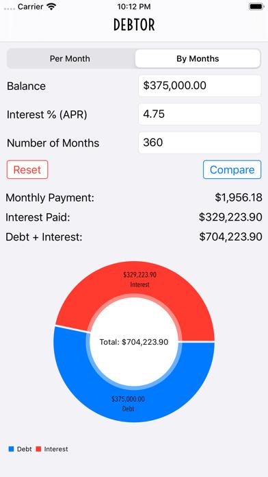 Debtor Debt Pay Off CalculatorScreenshot of 1