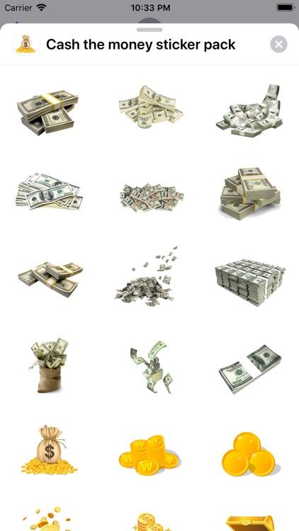 Cash the money sticker pack