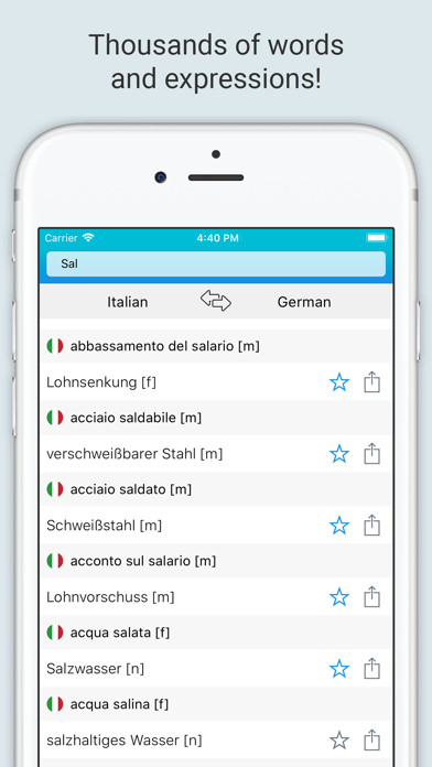 German Italian Dictionary + screenshot 3