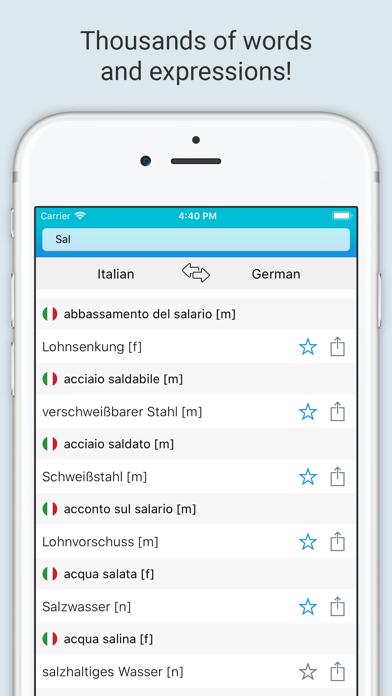 German Italian Dictionary + screenshot 3