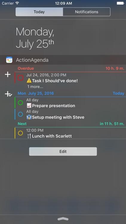 ActionAgenda Lite screenshot-4