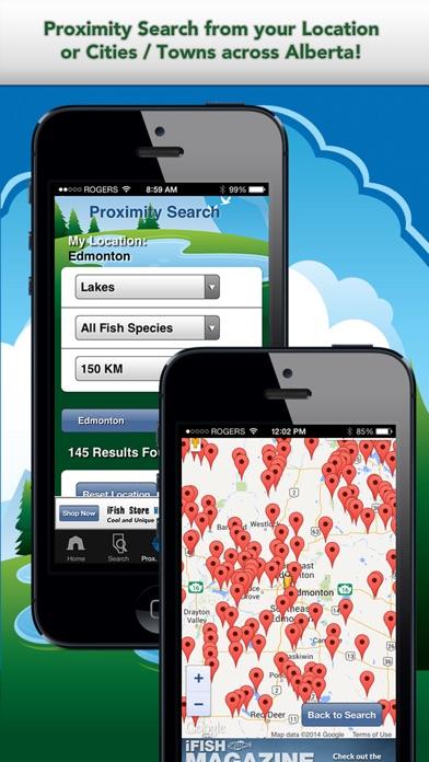 Screenshot for iFish Alberta in Canada App Store