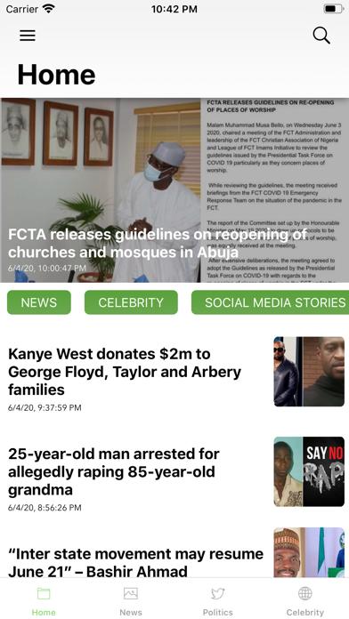 Nigeria Breaking NewsScreenshot of 1
