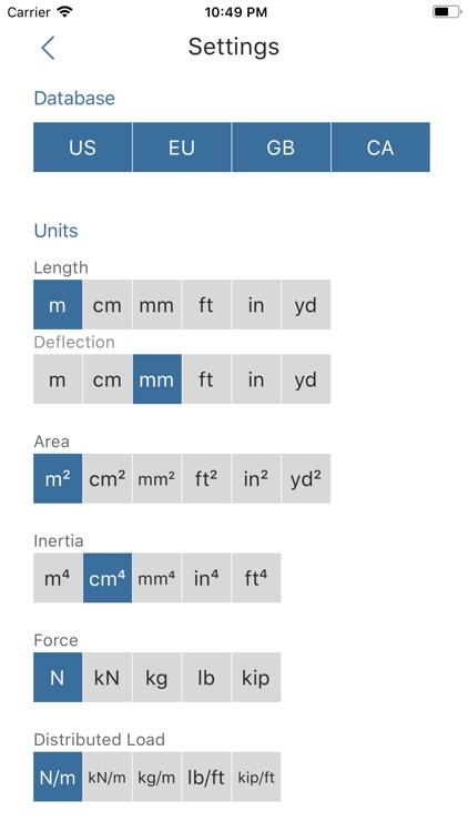 Deflection Beam Calculator screenshot-9