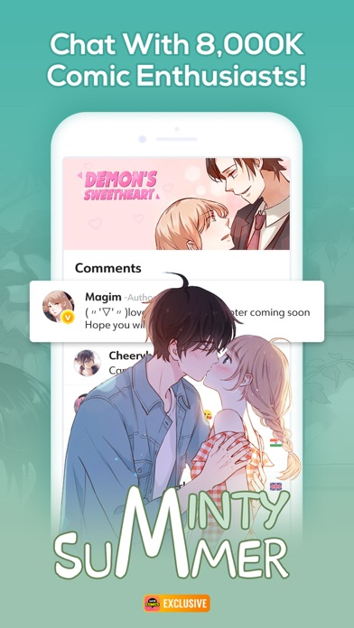 Screenshot for WebComics - Daily Manga in Indonesia App Store