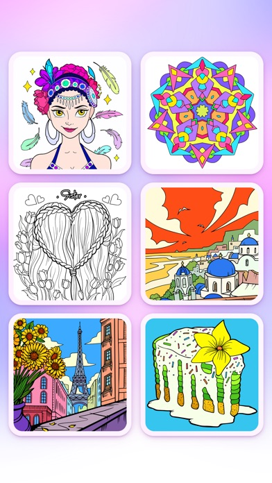 Coloring Fun : Color by Number Screenshot on iOS