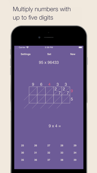 Lattice Multiplication Screenshots