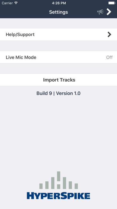 HyperSpike Mobile Application screenshot four