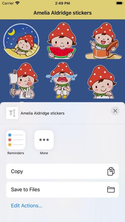 Amelia Aldridge stickers screenshot-3