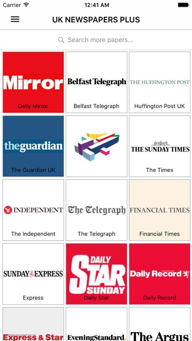 Uk Newspapers Daily News screenshot one