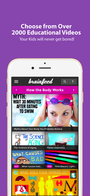 ‎Brainfeed – Educational Videos Screenshot