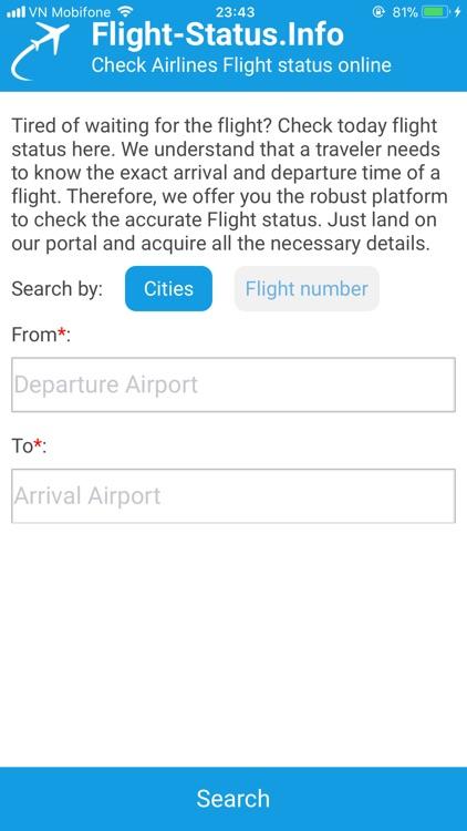Flights Status screenshot-0