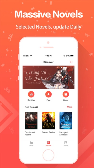 massive collection of novels available in webread app