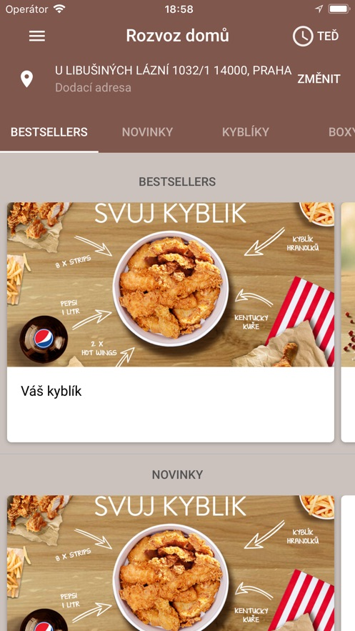 KFC CZ App 截图