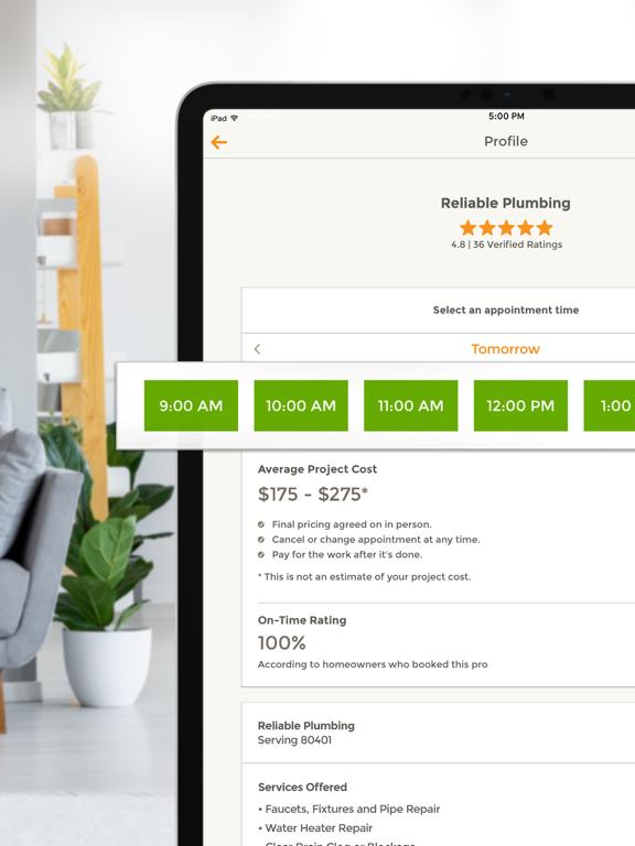 HomeAdvisor - Book Home Repair, Maintenance, Improvement & Renovation Contractors screenshot