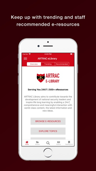 ARTRAC eLibrary screenshot 2