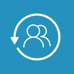 Ícone do app backup de contatos +