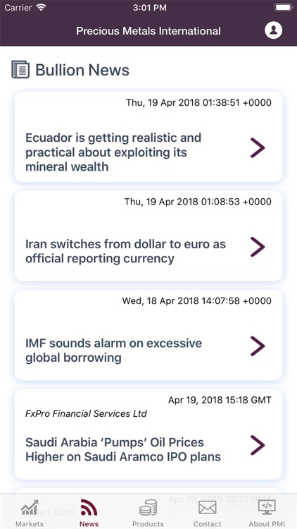 Precious Metals International. screenshot-2