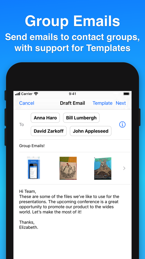 Contacts Journal CRM App 截图