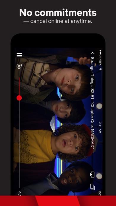 Screenshot of Netflix App
