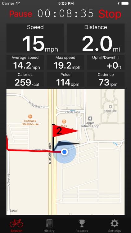 Fitmeter Bike - GPS Cycling screenshot-0