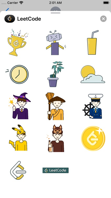 LeetCode - Official Stickers